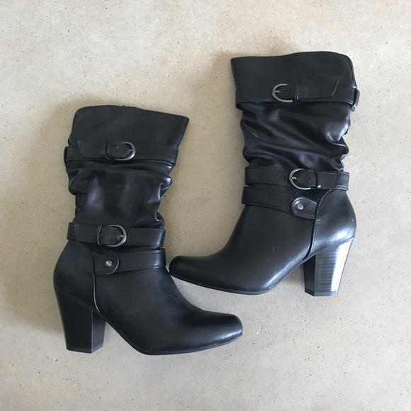 Shoes   Kohls Black Dress Boots   Poshmark